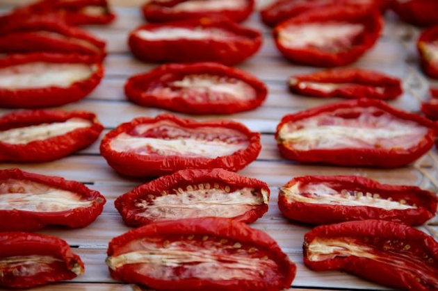 Oven dried tomato. Picture: Kerstin Rodgers